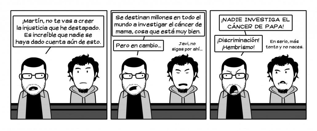 Sí, ya sé que a investigar el cáncer DEL PAPA se destina el presupuesto equivalente al PIB de un país pequeño, como Brasil.