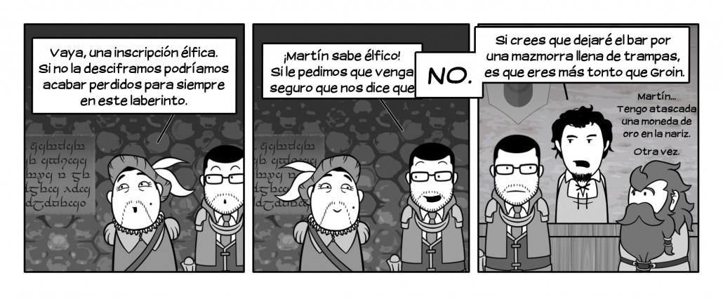 Martín, siempre dispuesto a salir de aventuras...